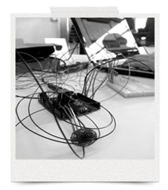 Vores DIMS med alle dens mange, lange ledninger.