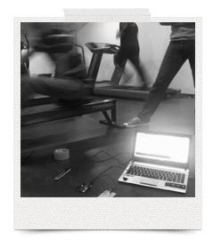 DIMSen da vi afprøvede den på romaskinen i ITU's motionscenter.